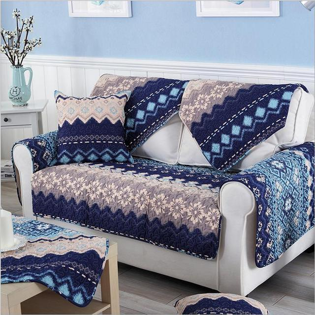 1 Piece Sofa Cover Bohemian Printing Soft Modern Slip Resistant Slipcover Seat Couch For