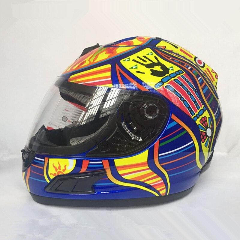 цена на Brand Malushun Motorcycle helmet Valentino Rossi helmet Kart racing full face helmet Men motociclistas capacete DOT approved