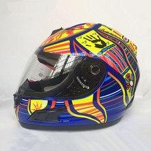 Бренд malushun мотоциклетный шлем Валентино Росси шлем картинг полный шлем мужчин motociclistas Capacete dot утвержден