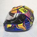 Marca Malushun Valentino Rossi casco Kart racing casco integral casco de La Motocicleta Hombres motociclistas capacete DOT aprobado