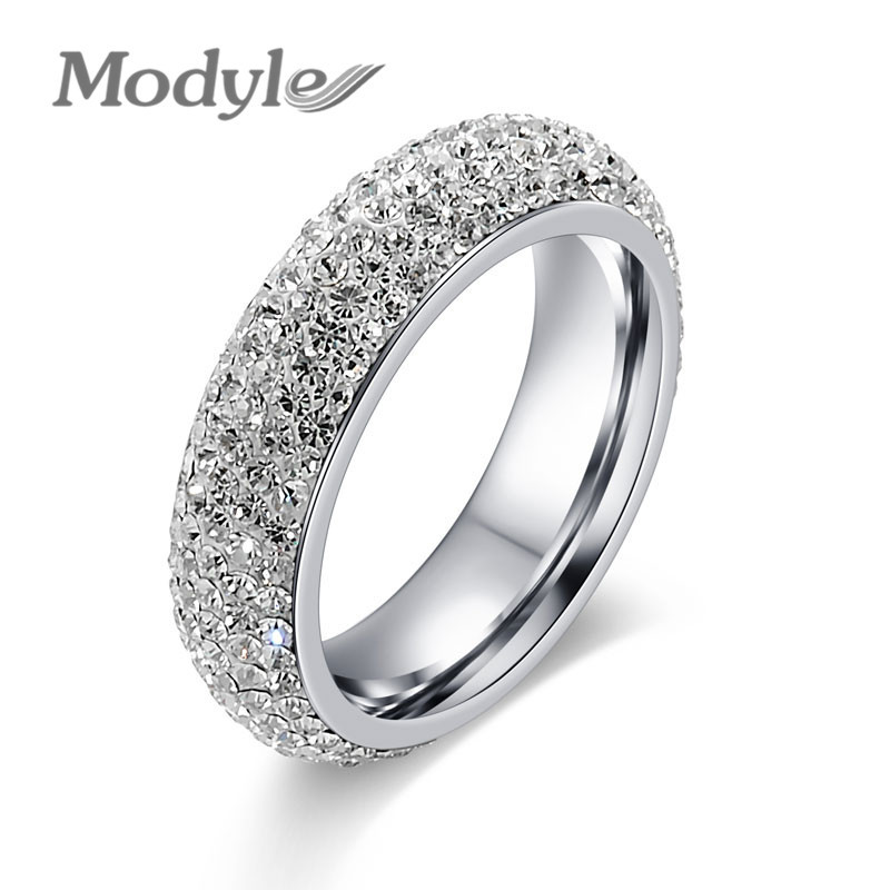 modyle brand wedding engagement rings for women gold color jewelry luxury vintage bague for lady accessories - Ladies Wedding Rings