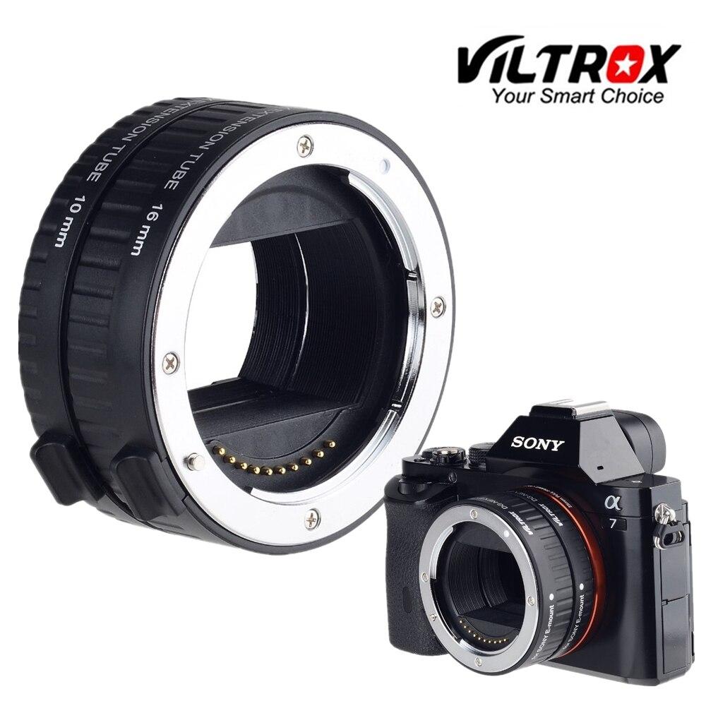 Viltrox DG-Nex marco completo enfoque automático tubo de extensión macro Adaptadores para objetivos para Sony e montaje Cámara A9 a7ii a7rii a7sii a6500 a6300