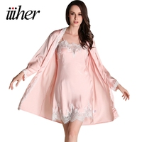 Robe Gown Sets Sexy Lace Lingerie Set Women S Sleepwear 2 Pieces Sleep Suits Pajama Sets