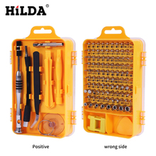 HILDA 108 في 1 مفك مجموعات متعددة الوظائف أدوات إصلاح الكمبيوتر أدوات أساسية إصلاح الهاتف المحمول الرقمي