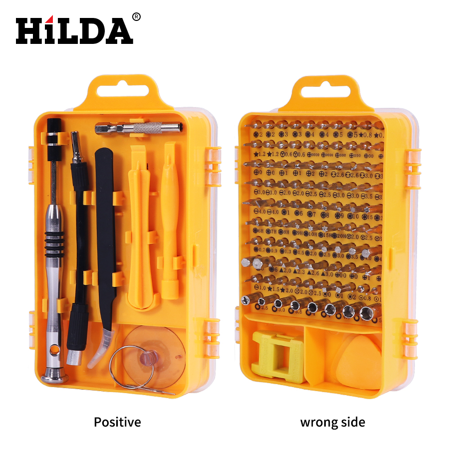 HILDA 108 In 1 Screwdriver Sets Multi-function Computer Repair Tools Essential Tools Digital Mobile Phone Repair