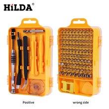 HILDA 108 в 1 отвертка наборы мульти-функции ремонт компьютеров инструменты необходимые инструменты Цифровой Ремонт мобильных телефонов