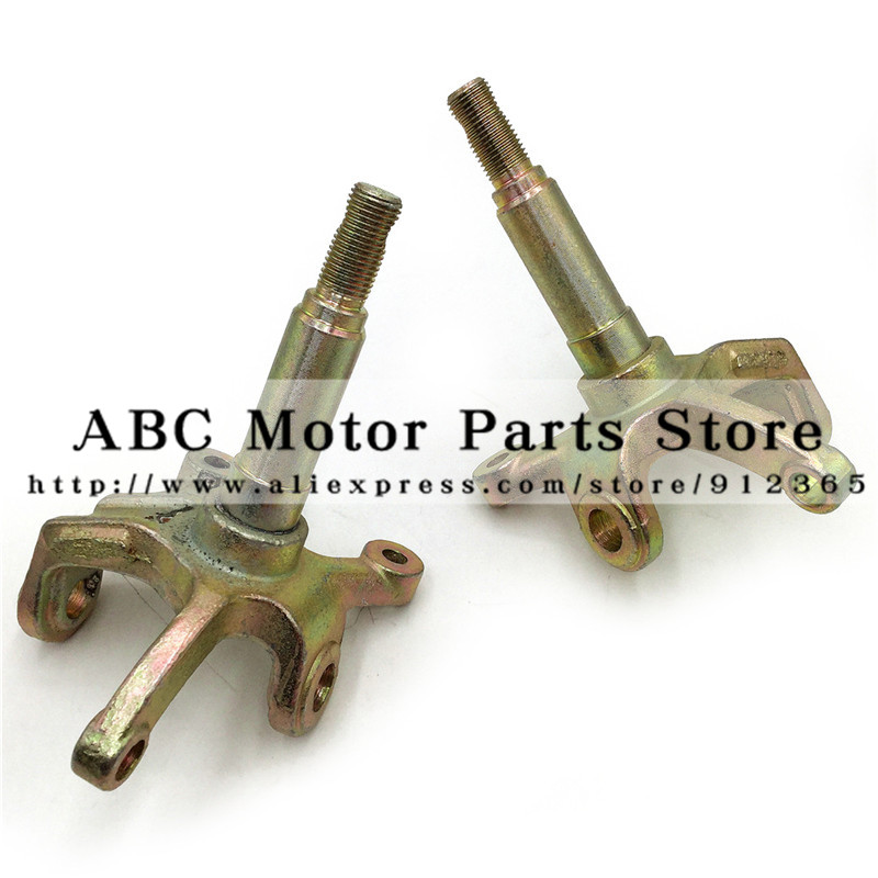 1SET Steering Strut Knuckle Spindles with Drum brake Wheel Hubs Fit For China ATV 150cc 200cc 250cc Go Kart Buggy ATV Bike Parts
