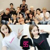 KPOP Korean Fashion SEVENTEEN 17 Album Concert Style WOOZI WONWOO Cotton Tshirt K POP T Shirts