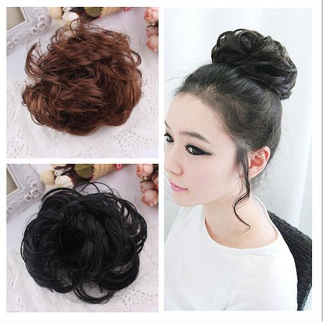 Best Selling Women Free Style Hair Curler Wig Puff Bud Elastic Hairbands  Hair Ties Hair accessories 9ceec6fbc6