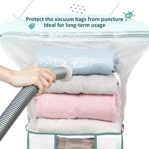 Image 2 - Caja de almacenamiento plegable TAILI para ropa/almohada/edredones/organizador de edredón con bolsa al vacío incorporada, resistente a la humedad y a prueba de insectos para ahorrar espacio