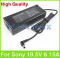 Para sony 19.5 6.15a 120 w laptop ac power adapter charger vgp-ac19v46 vgp-ac19v45 vgp-ac19v52 vgp-ac19v53 vgp-ac19v9