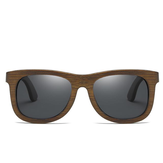 EZREAL Square Bamboo  Sunglasses