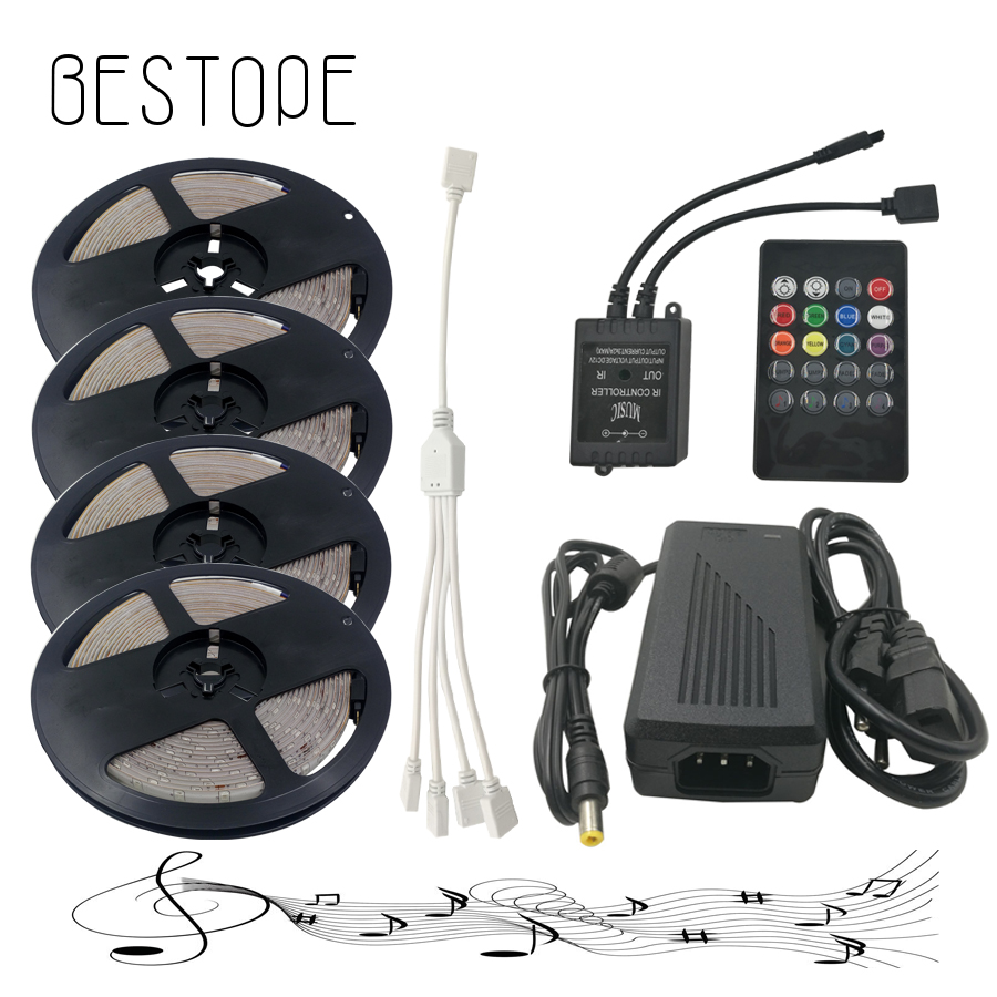 20M 15M 10M 5M RGB LED Strip Lights 2835 waterproof SMD Flexible RGB Ribbon Tape Set+Remote Controller+DC 12V Power Supply hbl led strip 2835 5m 10m rgb led strip light 15m 20m 3528 smd led ribbon flexible led tape non waterproof 12v adapter full set