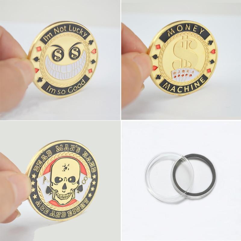 โลหะเหรียญที่ระลึก, ชิปโป๊กเกอร์บัตรยามป้องกันเหรียญ Token ฉันดีมาก / เครื่องเงิน / มือคนตาย 1 เซ็ต (3 ชิ้น) ของขวัญที่ไม่ซ้ำ