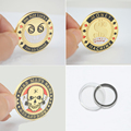 Metal Souvenir Coin,Poker Chip Card Guard Protector Token Coin I'M So Good/Money Machine/Dead Man's Hand 1set( 3PCS) Unique Gift