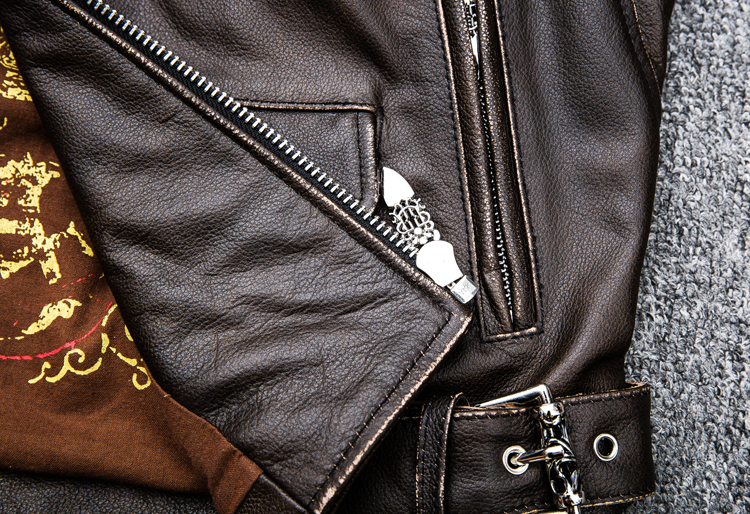 HTB1UTssplsmBKNjSZFFq6AT9VXaA MAPLESTEED Brown Distressed Motorcycle Jacket Men 100% Calf Skin Classic Slim Leather Jacket Man Moto Biker Coat Winter 5XL M190