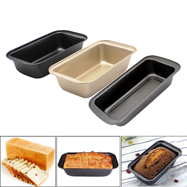 1pc Rectangle Carbon Steel Toast Bread Mold Cake Mold Loaf Pastry Baking Bakeware DIY Cake Non Stick Pan Baking Supplies