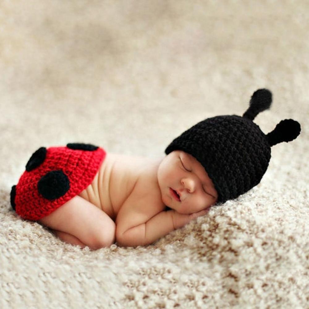 Baby Hand Crochet Knitted Bow Headband//Hat Photo Prop Girl Red Newborn 12M