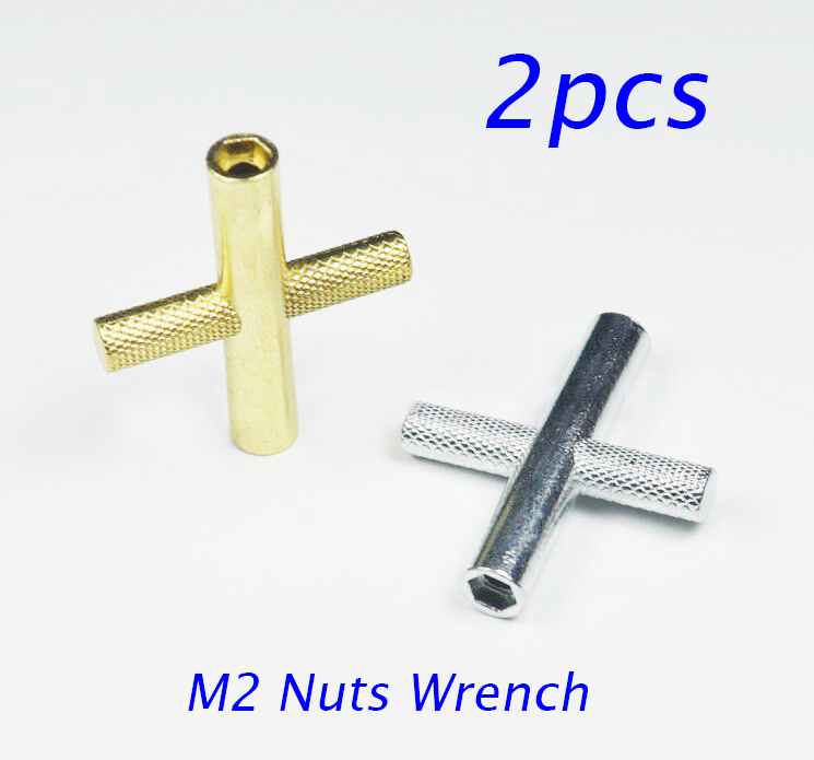 2PCS M2 Hexagonal Nut Wrench M2 Screw Nut Sleeve Tool For Tamiya Mini 4WD Racing Car Mod ...