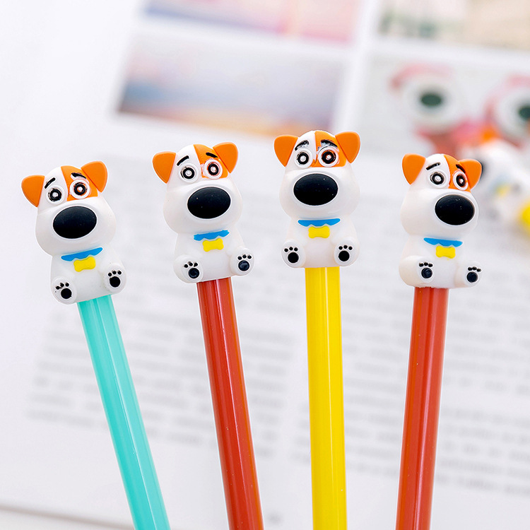 30 Pcs Gel Pen Cute Dog Neutral Pen 0.38mm Black Pens Creative Stationery School Supplies Wholesale Gifts For Writing Supplies