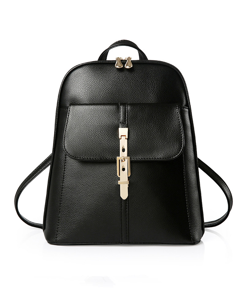 Leather Backpack Girl s New Bag Student Backpack Fashion PU Backpack LY1721