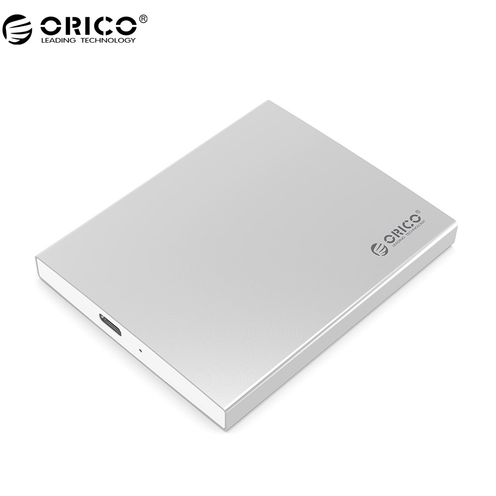 ORICO Aluminum Dual Bay Type-C mSATA SSD Enclosure with RAID Support 10Gbps High-speed For Mac With Type-C To Type-C Cable orico mini msata ssd enclosure aluminum 5gbps high speed hdd case for laptop desktop for windows linux mac with screw fixing