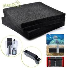 Аквариумный Биохимический черный мелкими отверстиями фильтр коврик с фактурной поверхностью аквариума для очистки воды