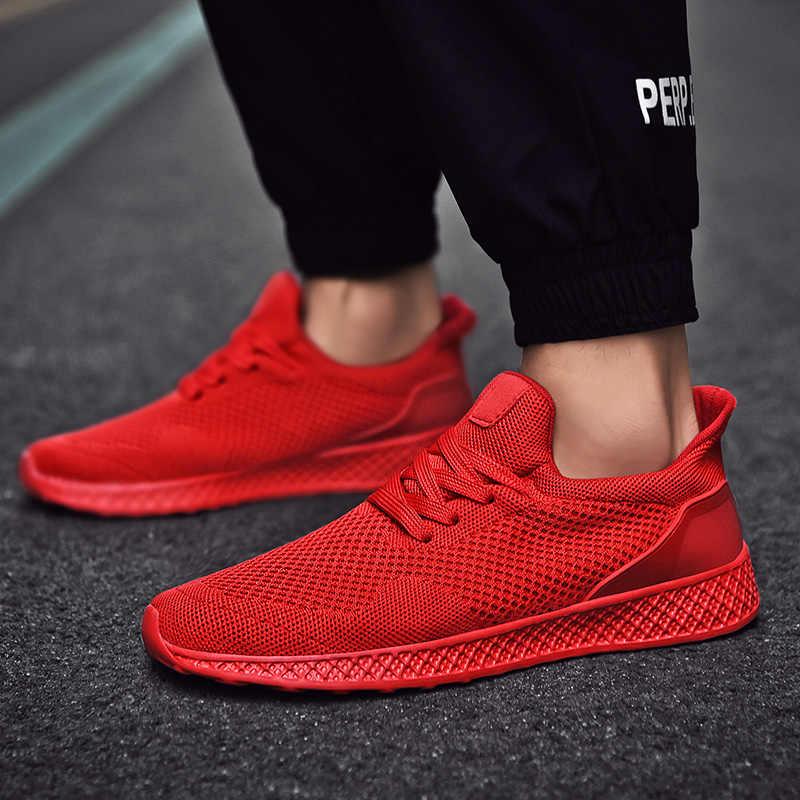 חם ספורט נעלי גברים ריצה נעל גדול גודל 39-48 סגנון חדש לנשימה אור משקל זול אימון אתלטיקה ריצה נעלי גבר