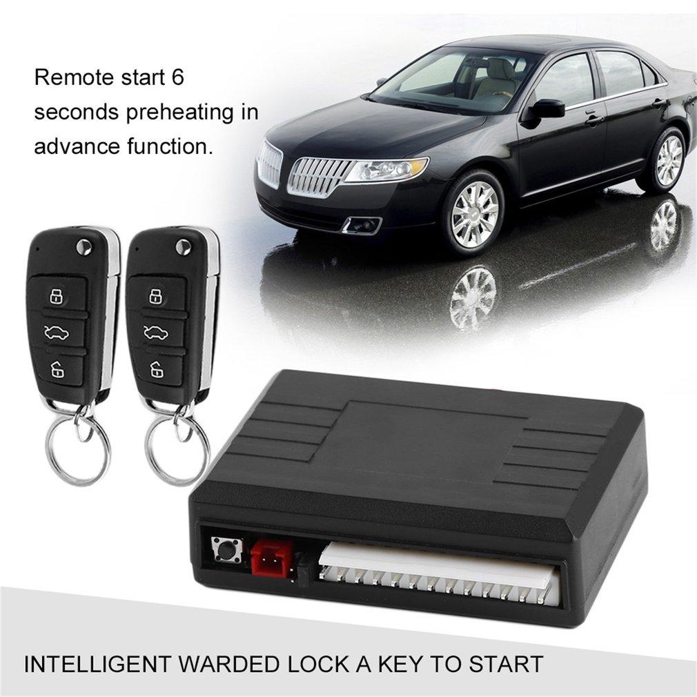 Sistema de Alarme de Carro Universal Central Porta de Bloqueio bloqueio de Controle Remoto Sem Fio Kit Sistema de Entrada de Alarme de Carro Auto