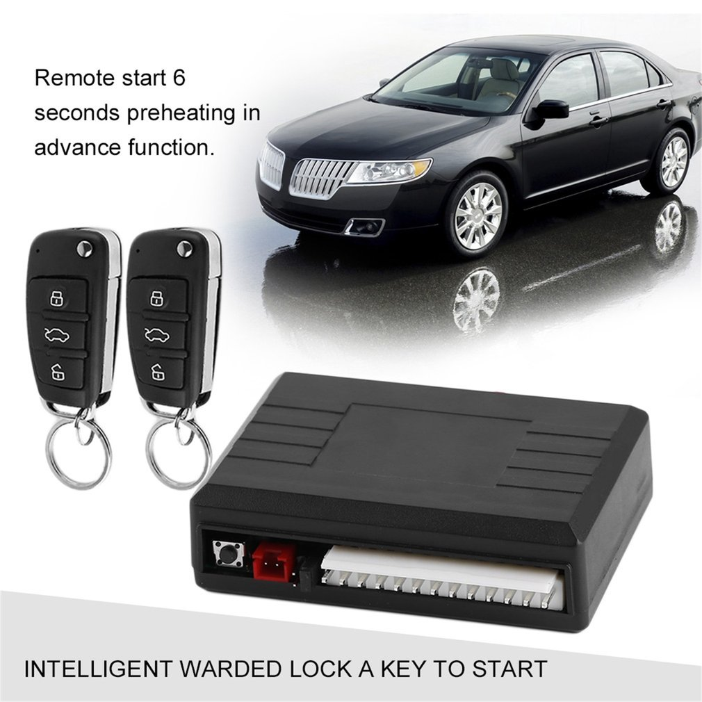 Universal Car Alarm System Remote Control Central Door Lock Locking Wireless Entry System Kit Car Auto Alarm image