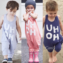 2019 Summer Children Clothes Kids Baby Boys Girls Sleeveless Halter Romper Jumpsuit Playsuit Casual Loose Toddler Baby Clothing newborn baby girls princess romper toddler kids long sleeves jumpsuit clothes children cotton lace playsuit pink yellow clothing