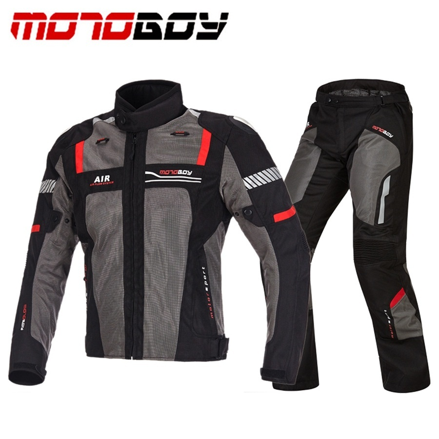Livraison gratuite 1 ensemble hommes été Mesh respirant réfléchissant pantalon Moto Racing costume Motocross tout-terrain Moto veste et pantalon - 3