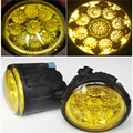For NISSAN Note E11 MPV 2006-2015 Car-Styling Led Light-Emitting Diodes DRL Fog Lamps Yellow Glass 1SET