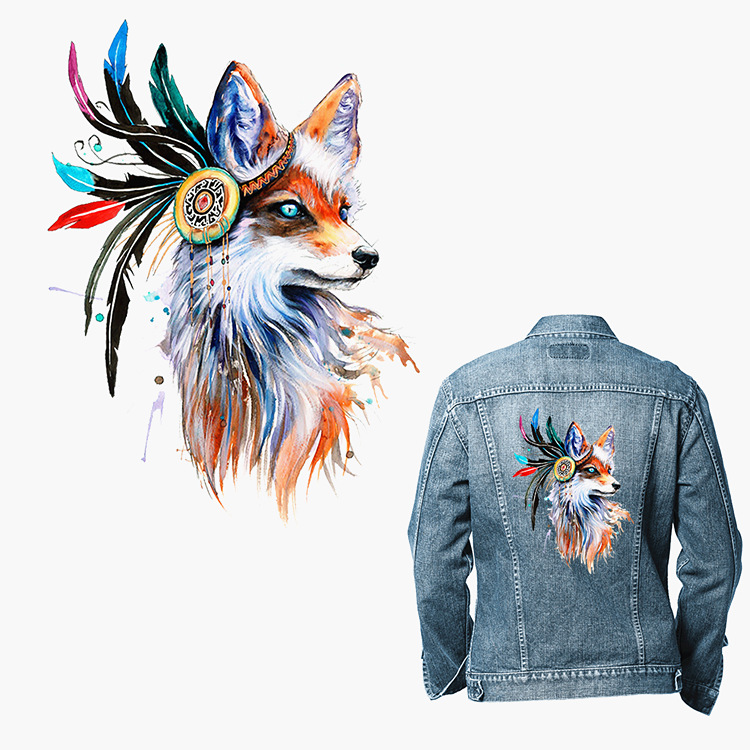 2019 New Garment Hot Transfer Printing Personality Ke Style Hot Fox Color Horse Flat Printing Pattern DIY Costume