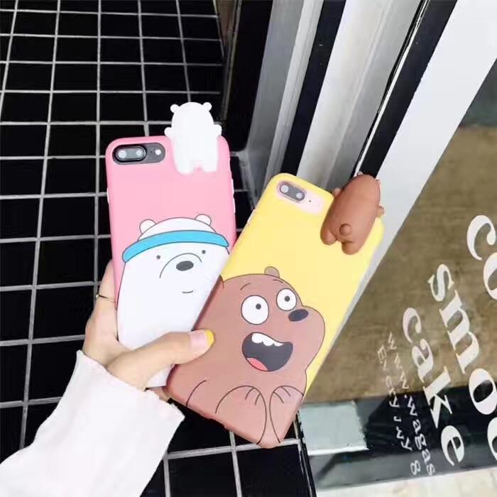Yoneshone Luxury Fashion south korea imd case for iphone7 7Plus 6 6s 6Plus cute 3d bear cartoon silicone cover plush