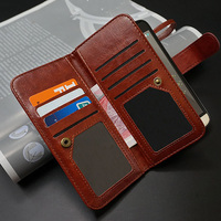 Genuine Leather Wallet For IPhone 7 Luxury Multi Functional Magnetic With 12 Cards Slots Case For