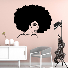 Cartoon Africa woman Nursery Wall Stickers Vinyl Art Decals For Kids Rooms Decoration Decal adesivo de parede
