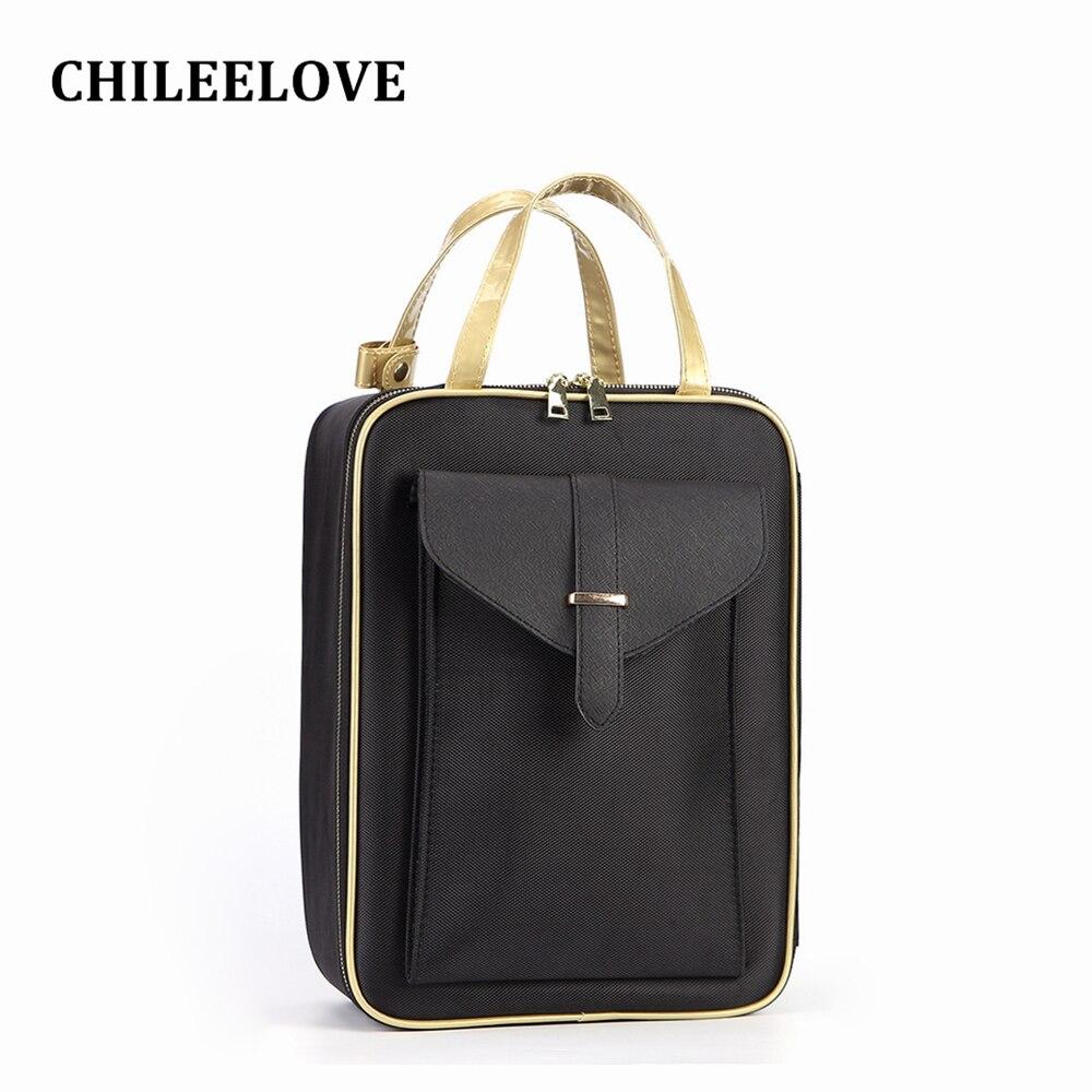CHILEELOVE Makeup Professional Backpack Handbag Cosmetic Makeup Multi Layer Make Up Case Box For Makeup Brushes Kit Skin Care цена 2017