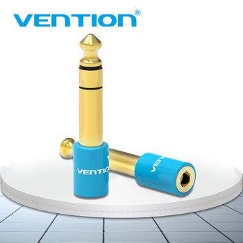 Vention гитара 6,35 мм штекер 3,5 мм Женский аудио адаптер 6,5 до 3,5 позолоченный конвертер для микрофона динамик аудио усилитель