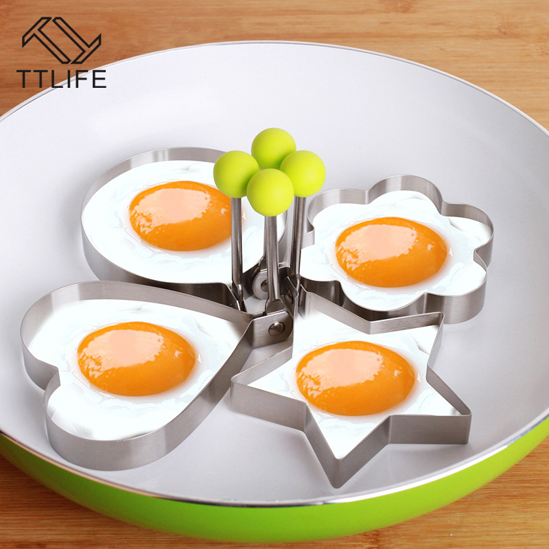 TTLIFE Stainless Steel Egg Shaper Egg Mold Cooking Tools ...