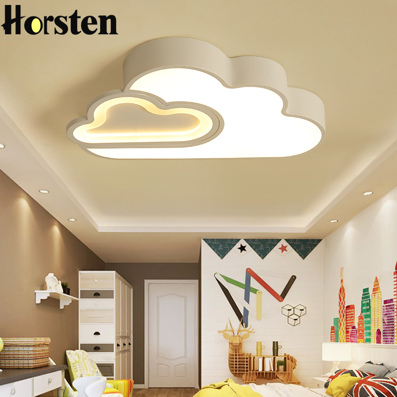 Us 110 21 36 Off Nordic Simple Clouds Kids Room Lighting Bedroom Led Ceiling Lights For Children Baby Remote Control Acrylic Lamps In