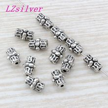 100Pcs Antique silver Zinc Alloy Bali Style Spacer Beads 7 x10mm DIY Jewelry D12