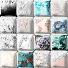 Hongbo 1 Pcs Marble Printed Pillow Cases Cushion Cover Bed Pillowcase Square For Car Sofa Home Decor