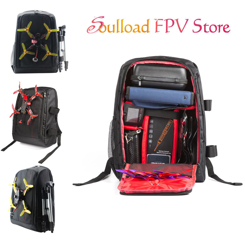 FPV Racing Drone Quadcopter Backpack Carry Bag Outdoor Tool Portable Case For Multirotor RC Model Plane Fixed Wing image