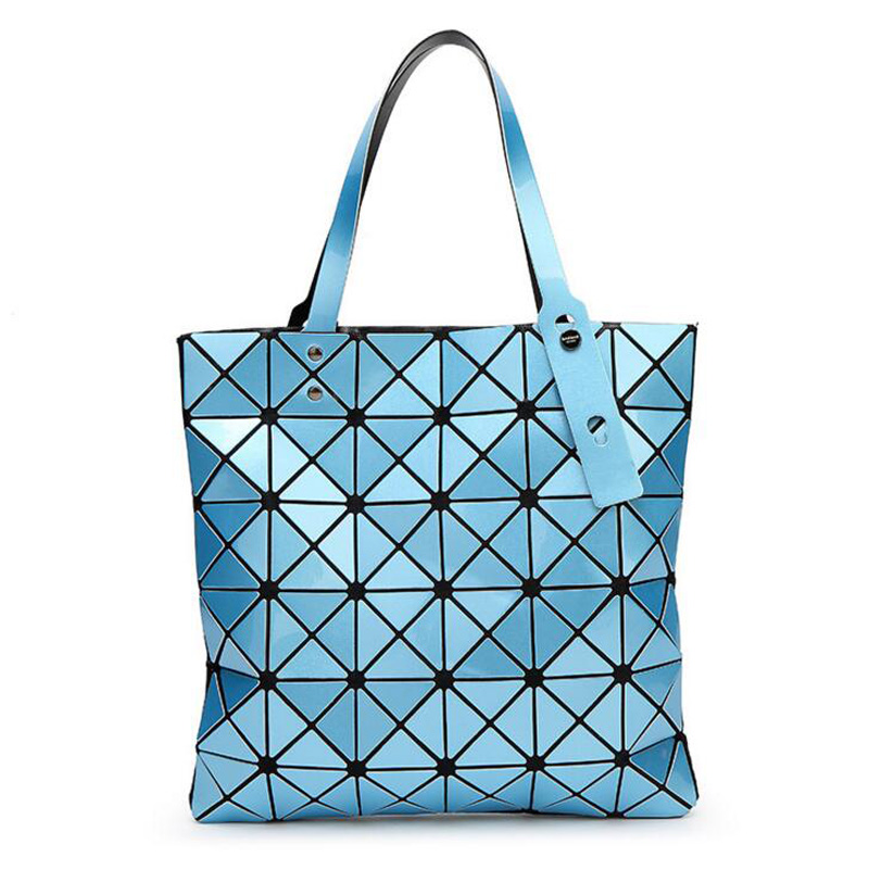 2018 Women Bags Geometry Lingge PU Leather Women Hand Bag Shoulder bag Big Capacity High Quality Luxury Desgin Lady Shopping bag
