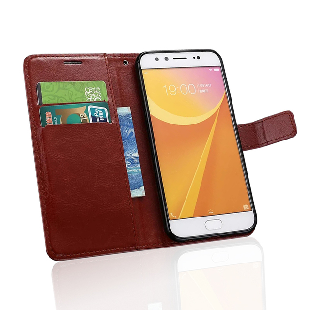 High Quality Vivo X9 Retro Flip Leather Case For BBK Vivo X9 phone Case Wallet Flip Cover Card Slot with Stand Function