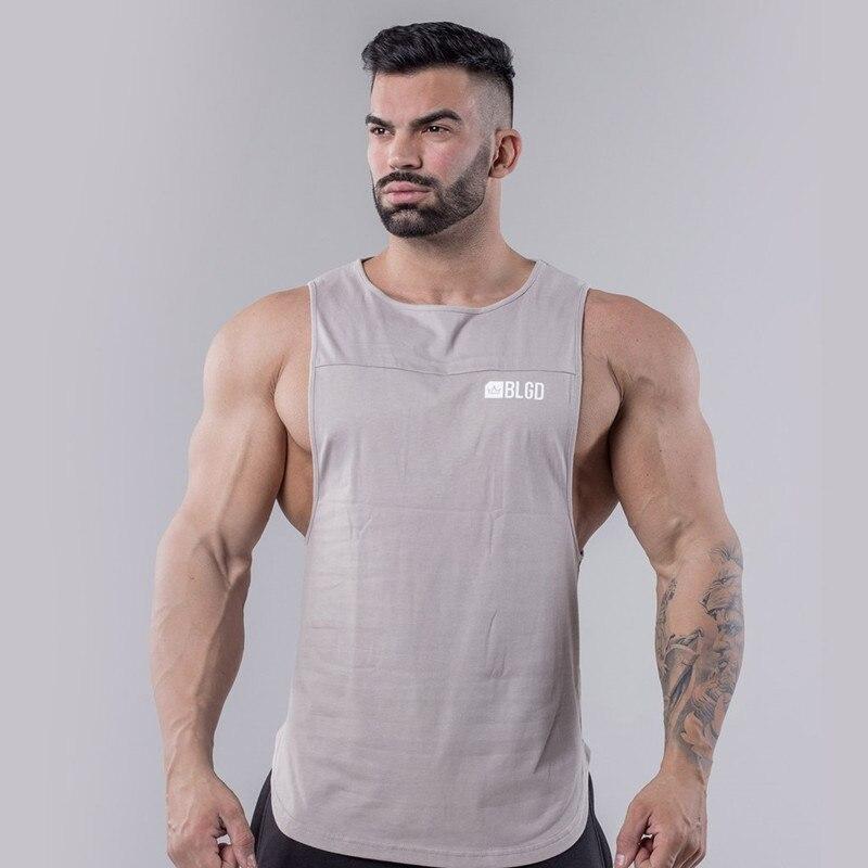 Gyms 2019 Summer Fitness Men   Tank     Top   Mens Bodybuilding Stringers   Tank     Tops   Singlet Brand Clothing Men Sleeveless Shirts