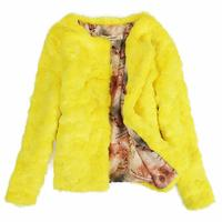 autumn and winter shor warm coat faux fur coat cotton long sleeved women jacket