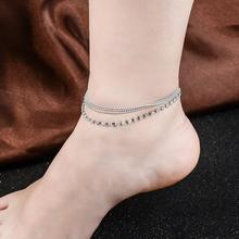 CJZBLXSL00772H:HYDE 1 PC Multi-layer Sexy Crystal Anklet Foot Chain Summer Bracelet Charm Anklets Beach Foot Wedding Jewelry Gif(China)