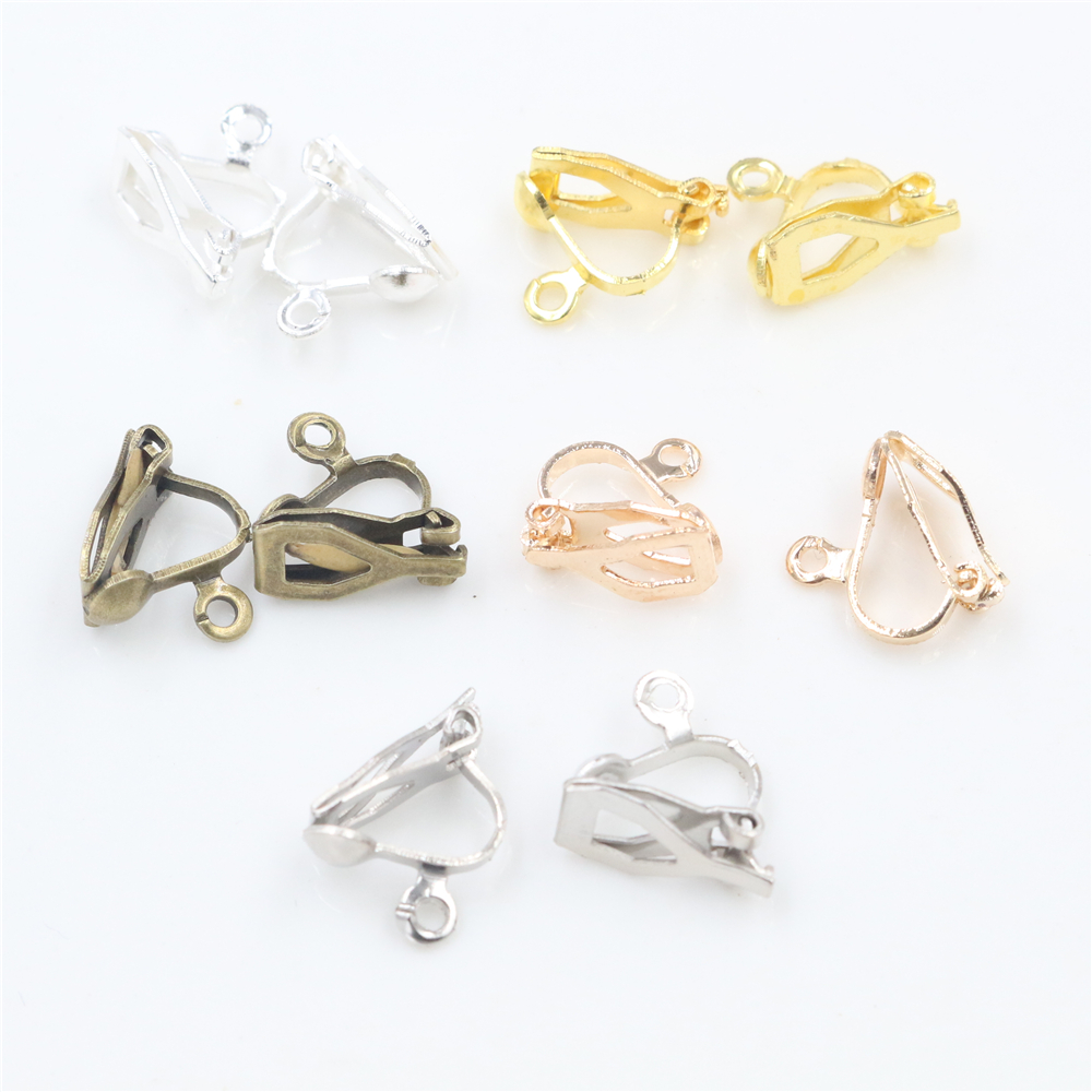 12x5mm 50pcs High Quality 5 Colors Plated Ear Clip DIY Handmade Earrings Findings Jewelry Findings Parts Wholesale
